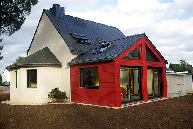 Extension ossature bois ecologis experts for Cout agrandissement maison