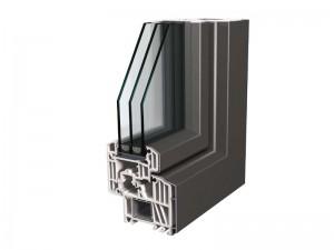 porte d'entrée mixte PVC Aluminium