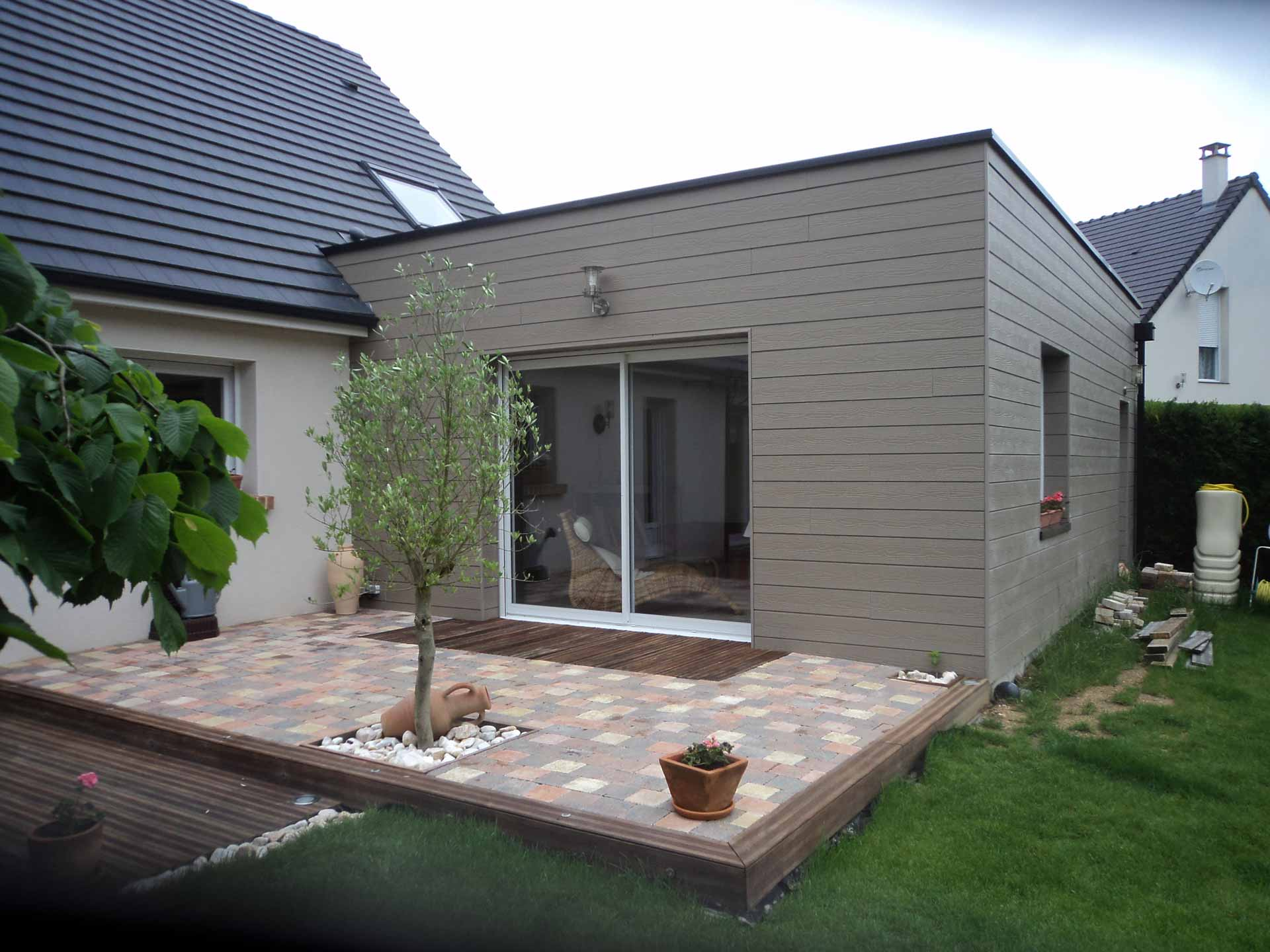 Extension en bois prix l 39 extension bois une pi ce en for Extension maison
