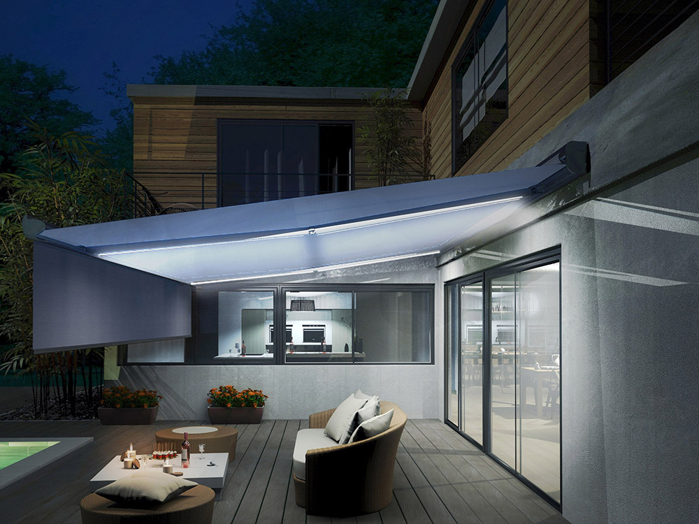 Stores de terrasse ecologis experts for Eclairage jardin led electrique