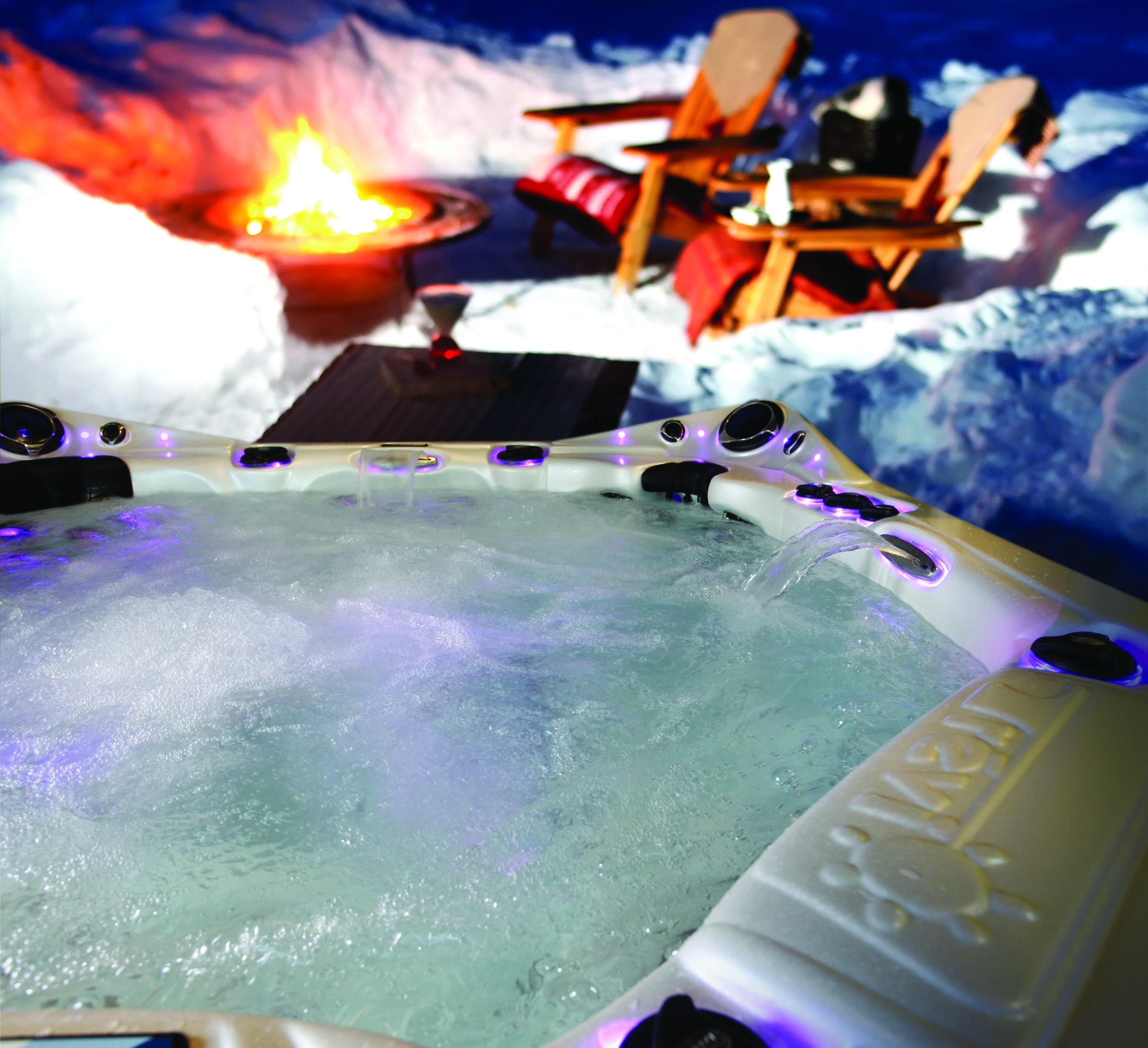spa en hiver