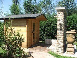 sauna traditionnel extérieur